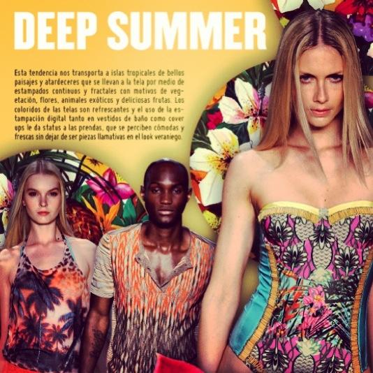 Deep summer - swimwear trend report summer 13.