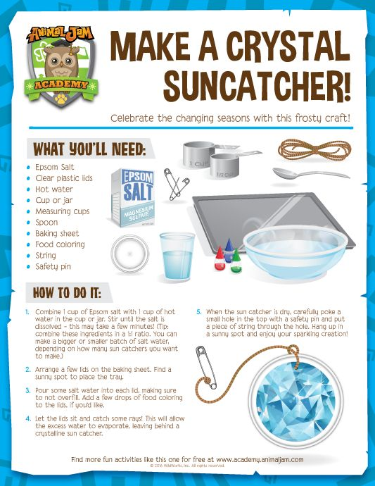 Celebrate the Jamaaliday by making a festive Crystal Suncatcher! Get the instructions with this free download from Animal Jam Academy! Have fun and PLAY WILD!