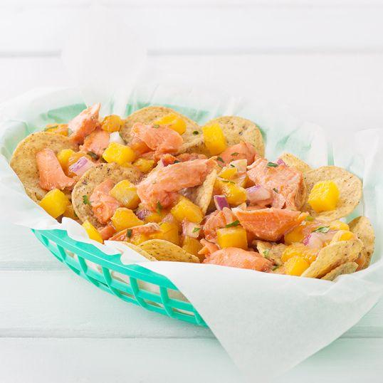Summer Mango Salsa with Flaked Salmon #InspireTheSeason