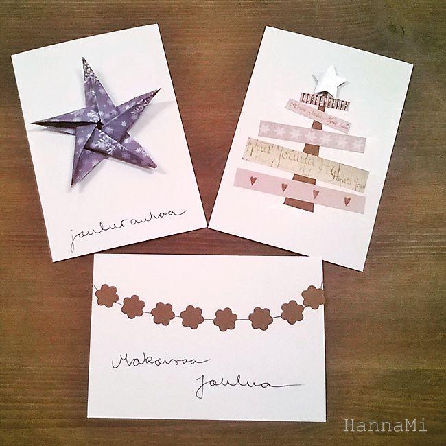 Helppoja joulukortteja ja oman elämän tärkeiden asioiden pohtimista