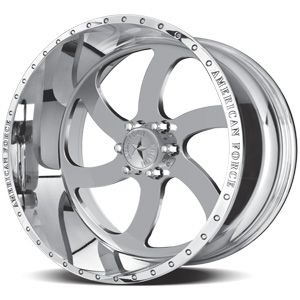 American Force Blade SS6 Polished Custom Truck Wheels & Rims