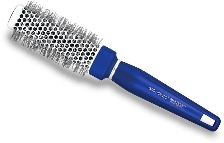 """Bio Ionic BlueWave NanoIonic Conditioning 1.25"""" Square Round Hair Brush"""