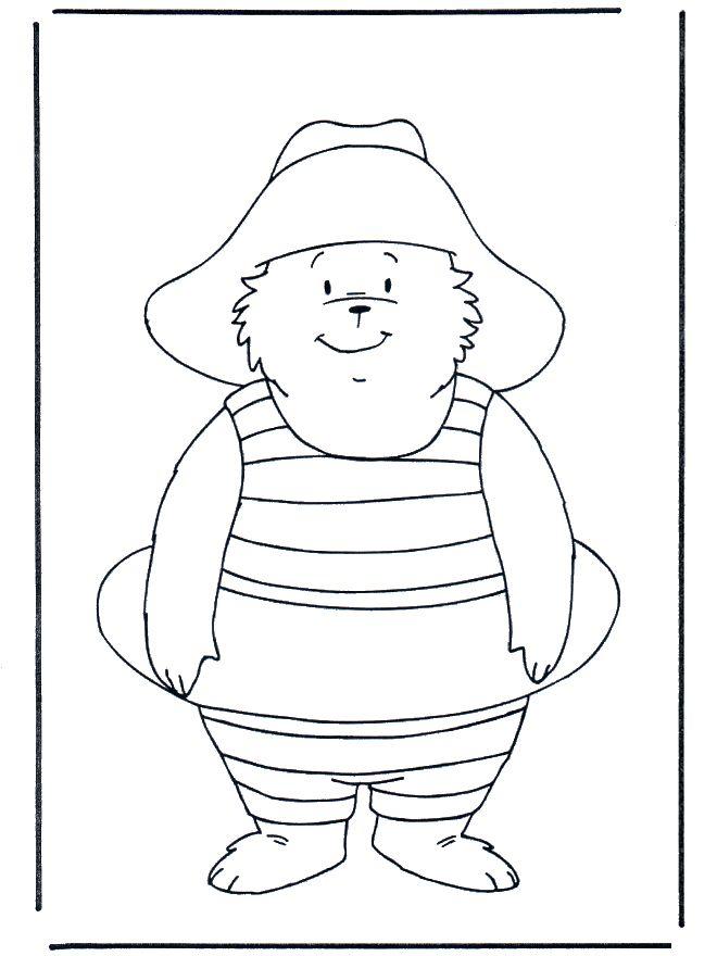 free paddington bear time to swim coloring pages