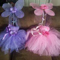 Purple and pink fairy wing tutu sets. Custom made