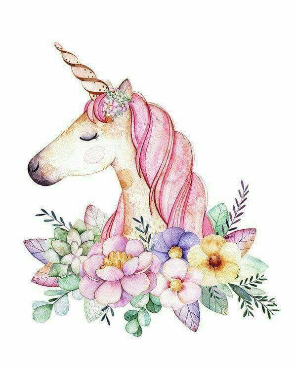 Unicorn Sanatsal Baski Cizimler