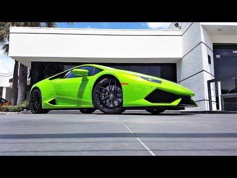 2016 Lamborghini Huracan LP610-4 Verde Mantis Interior Exterior Drive Revs at Lamborghini Miami