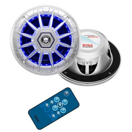 Boss Audio MRGB65S 6.5 inch 2-Way 200-Watt Marine Full-Range Speaker, Multicolor