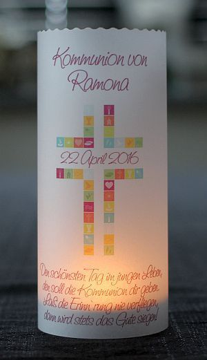 Decoration – ♥ light cover Communion table top lantern – a unique product by marion-designisch on DaWanda
