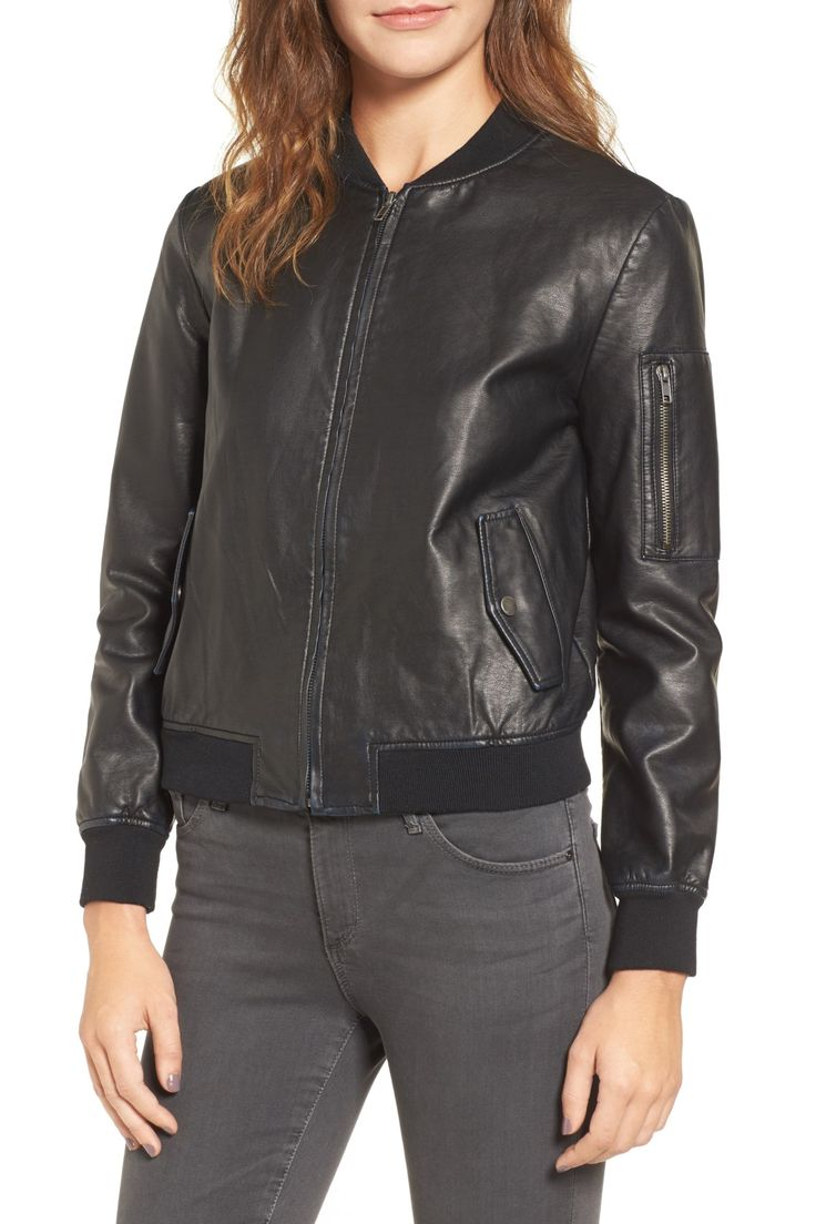 Braver Faux Leather Bomber Jacket by BB Dakota on @nordstrom_rack