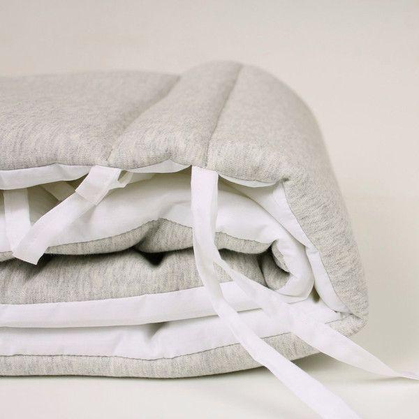 Lab Boutique Grey Fleece Cot Bumper