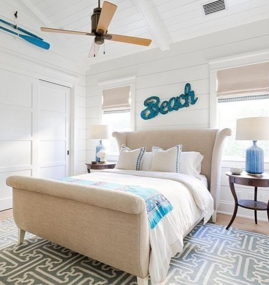 Beach House Decor Ideas With Horizontal Blinds: 224 Best Coastal Bedrooms Ideas Images On Pinterest