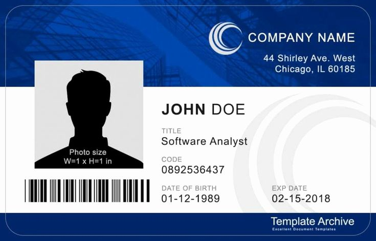 Free printable id card template unique ms word id badge
