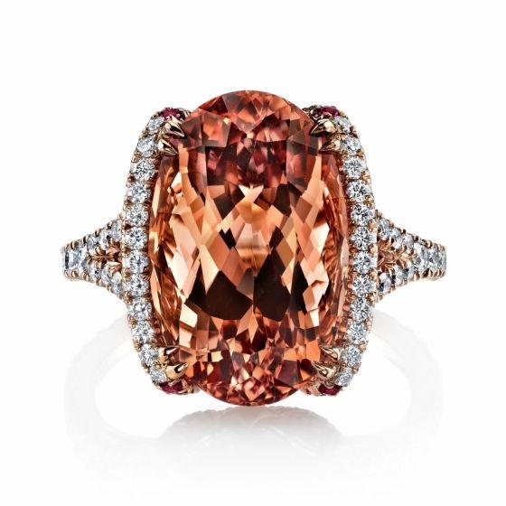 Omi Prive: Imperial Topaz and Diamond Ring