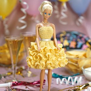 Crochet fashion doll patterns|Fashion doll party dress clothes online   $2.99