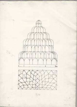 Mosul (Iraq): Imam 'Awn al-Din Shrine: sections of muqarnas vault. The Ernst Herzfeld Papers. The Metropolitan Museum of Art, New York. Department of Islamic Art. Harris Brisbane Dick Fund, 1943 (eeh1551) #architecture
