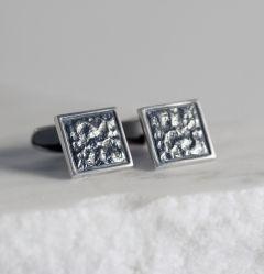 Silver cufflinks by Martti Viikinniemi