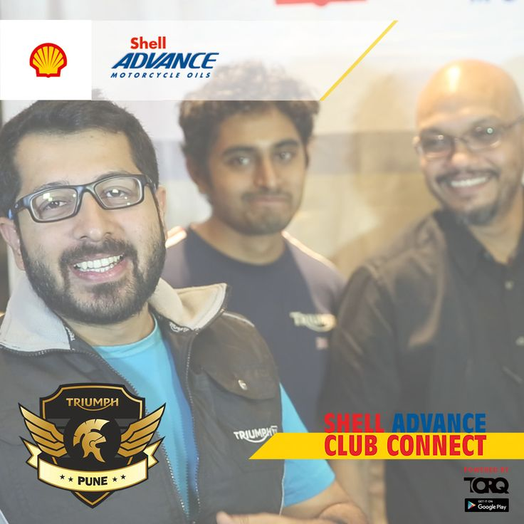 Great Enthusiasm of Triumph Pune Motorcycle Club for Shell Advance Club Connect...#Torq Respect for the Spirit of Brotherhood amongst the Riders..! #TheWinningIngredient #TorqRiderApp #bikerlife #motorcyclediaries