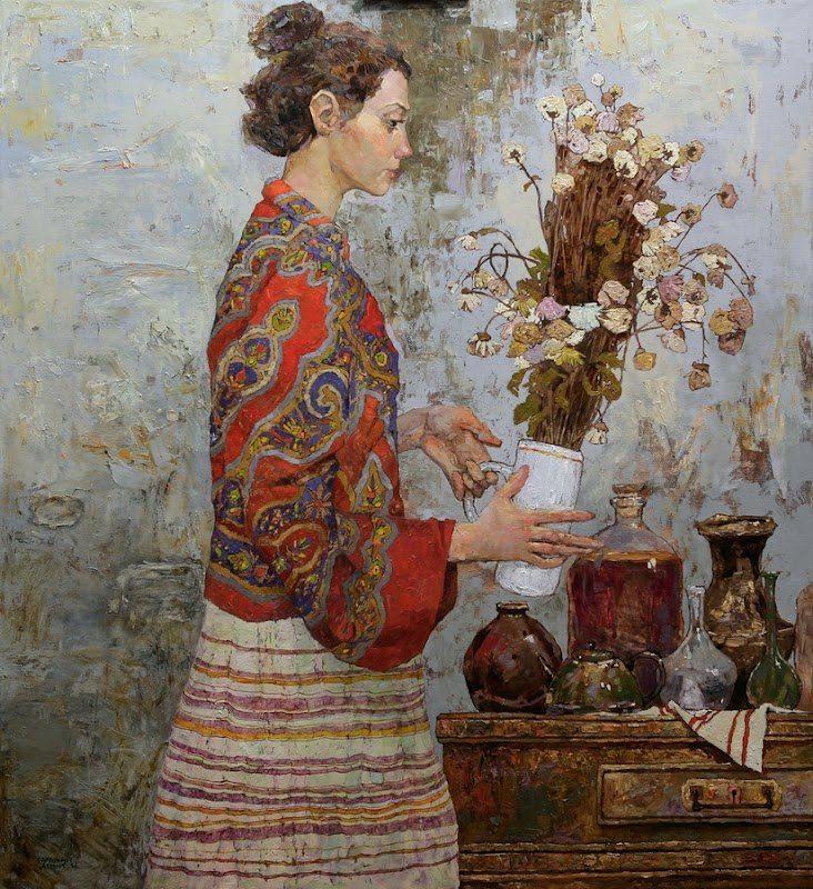 Denis Sarazhin: Sarazhin Ukrainian, Figures Art, Girls Generation, Искусствоsovjetrussian Art, Room Plants, Flower Denis, Art Room, Artists Inquiry, Denis Sarazhin