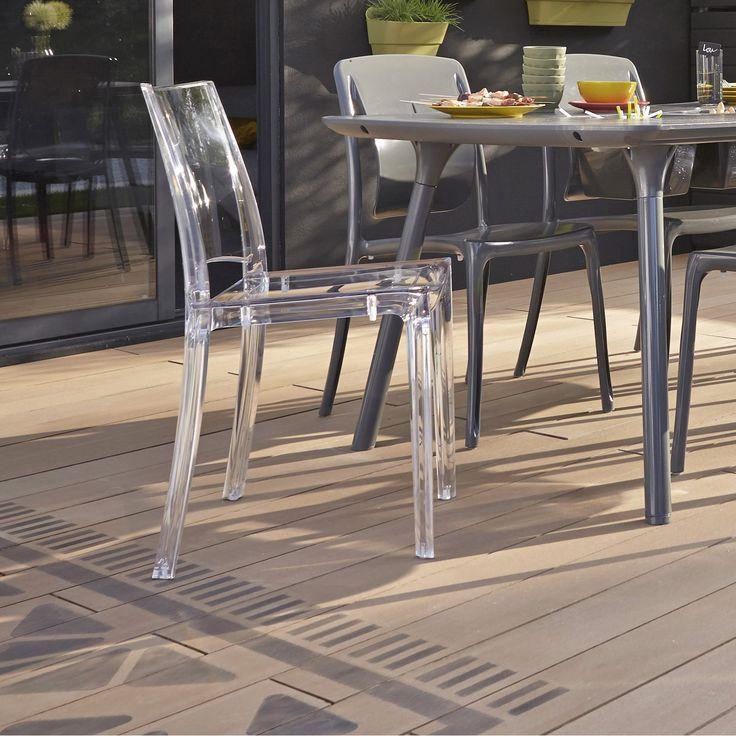 Chaises de jardin Leroy Merlin, achat Chaise de jardin en résine Paris lux, couleur transparent prix promo Leroy Merlin 69.90 € TTC