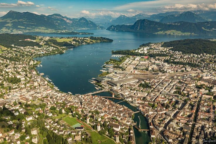 The City, the Lake and the Mountains by Jan Geerk on 500px