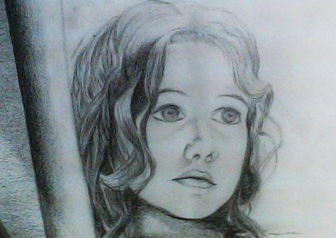 Pensamientos infantiles. Ilustración con lápices.