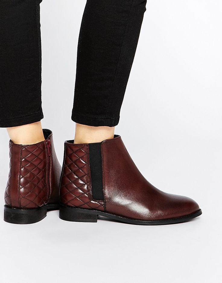 Image 1 ofASOS ALASKA Wide Fit Leather Ankle Boots