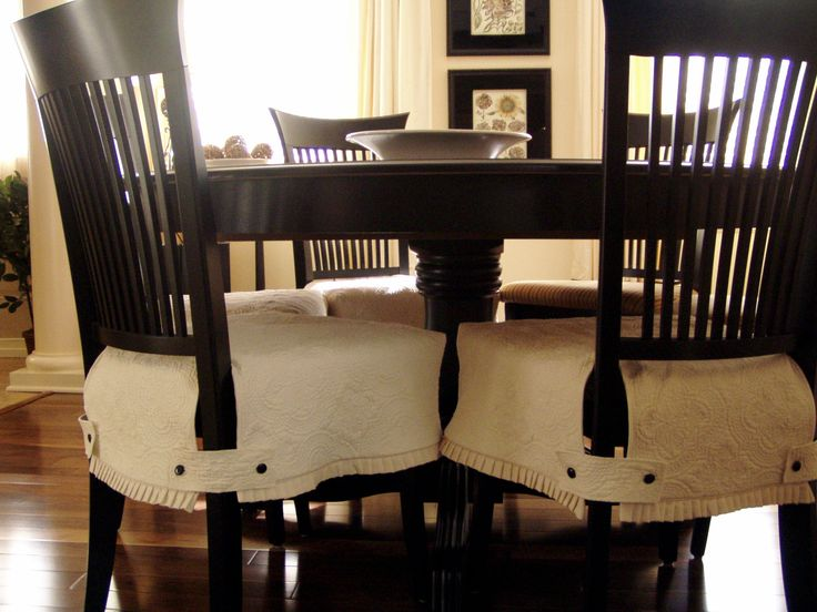 17 best images about furnishings slip cover magic on pinterest chair slipcovers ottoman - How to make easy slipcovers for dining room chairs ...