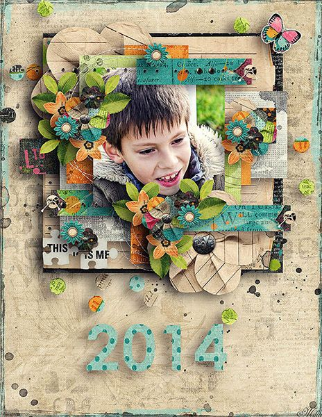 I Am Who I Am Designs by Blagovesta template Calendar 2014 by Tinci Designs