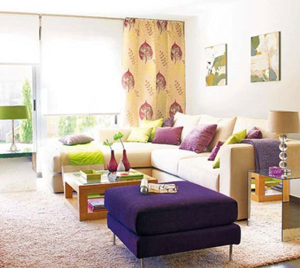 bright cosy living room design