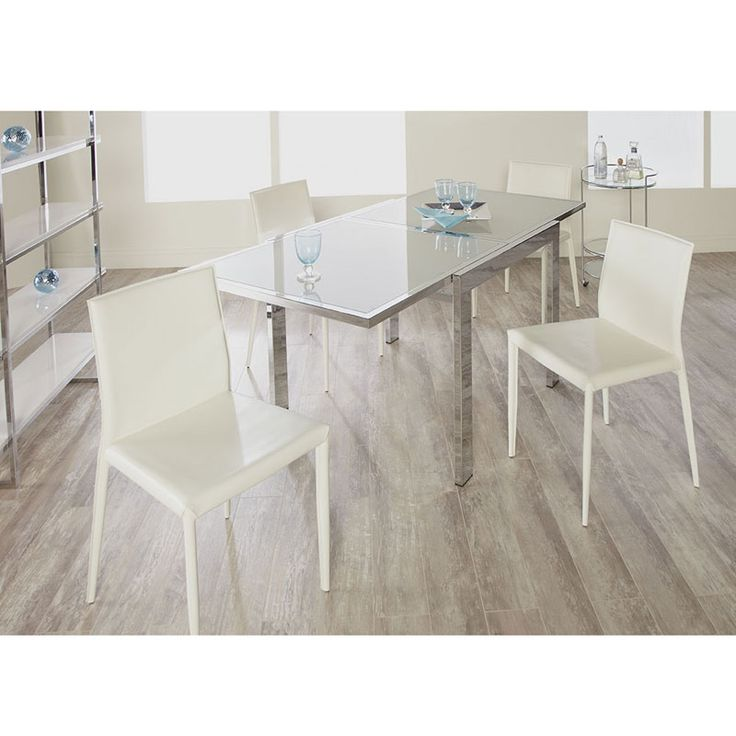 Euro Style Duo 5 Piece Square Dining Set With Shen Chairs