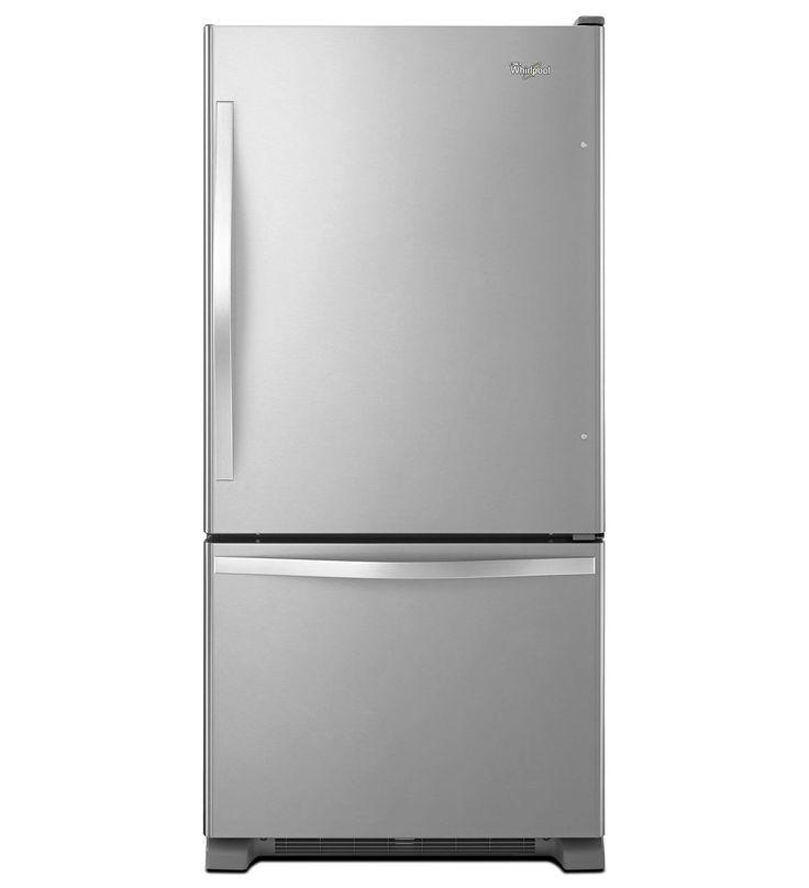 Fresh  cu ft Whirlpool Bottom Freezer Refrigerator with SpillGuard Glass Shelves