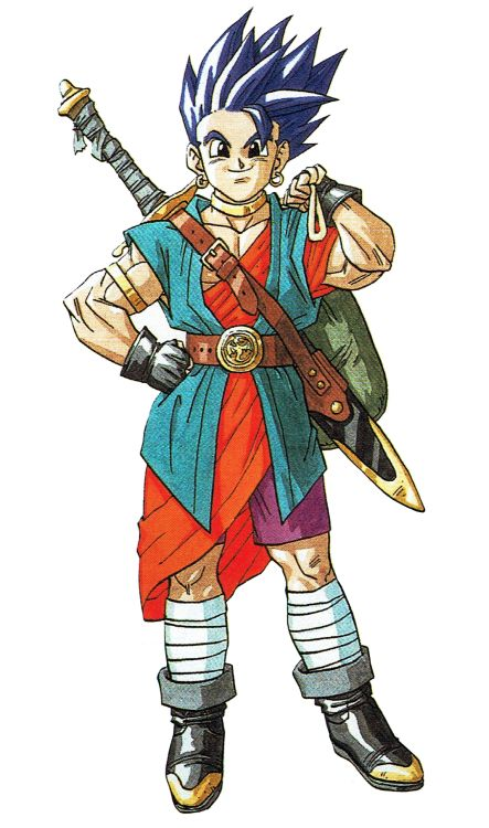 Some of the main characters from Dragon Quest VI![The Video Game Art Archive][Support us on Patreon]