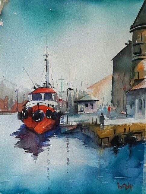 By Aynur Akalin Watercolor  Turkey