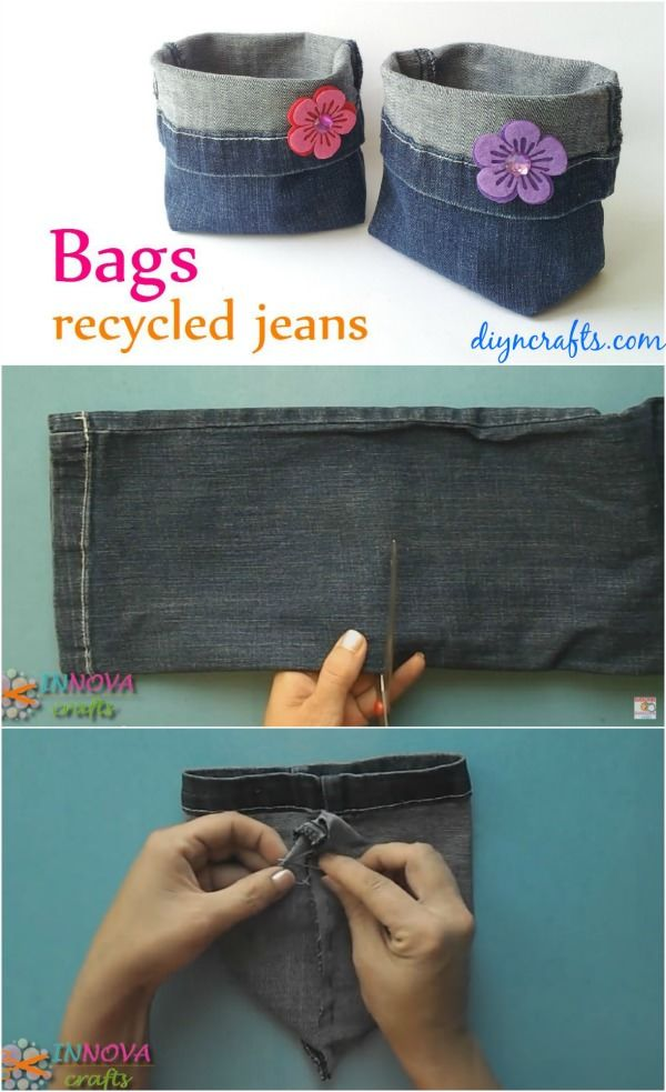 Give a new life to your old favorite pair of jeans with this cute DIY recycled jeans craft idea. Check out!
