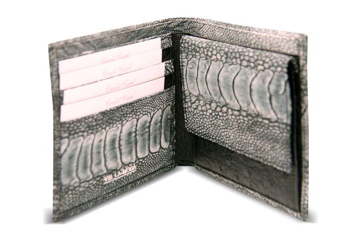 genuine ostrich leg mens wallet from Via La Moda - circa 2010
