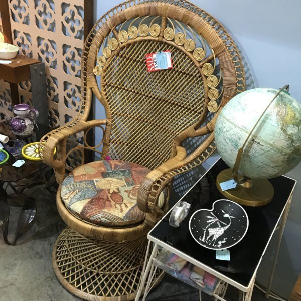 Vintage Boho Cane Peacock Chair Armchairs Gumtree Australia