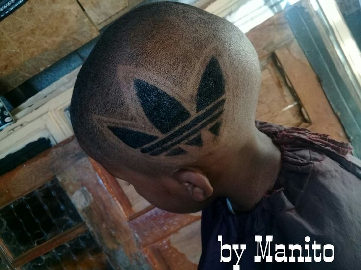 Manito's Adidas art work hairstyle