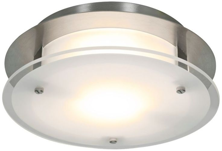 Vision Brushed Steel 3 1/4-Inch-H Round Access Ceiling Light -