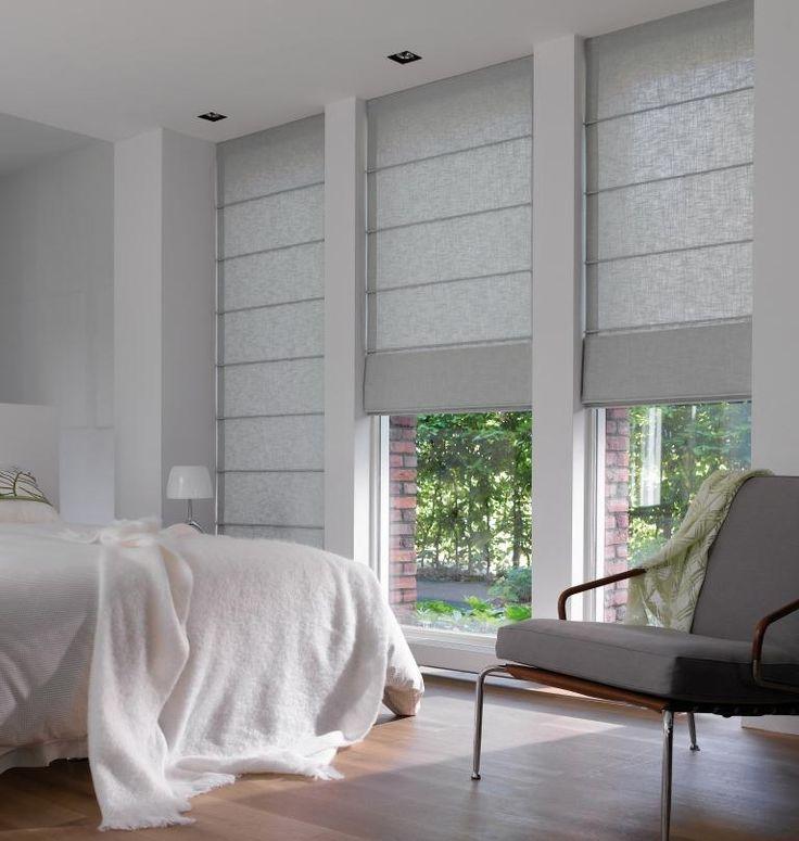 Laskoskaihdin makuuhuoneessa Luxaflex - Atric Store #laskosverho #laskoskaihdin #harmaa #interior #pellavaverho #sisustus #bedroom #makuuhuone #articstore