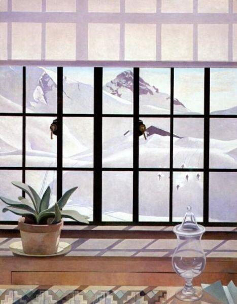 "Charles Sheeler  American   1883 - 1965  ""Winter Window"""