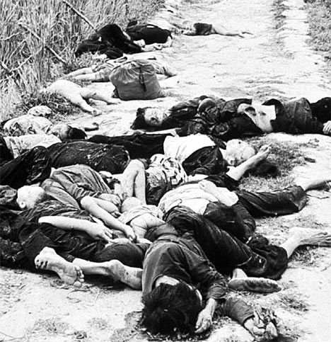 The My Lai massacre became the most publicized war atrocity committed by U.S. troops in Vietnam. Allegedly, a platoon had slaughtered between 200 and 500 unarmed villagers at My Lai 4, a cluster of hamlets in the coastal lowlands of I Corps Tactical Zone. This was a heavily mined region where Viet Cong guerrillas were firmly entrenched and numerous members of the participating platoon had been killed or maimed during the preceding month. Click through for more.