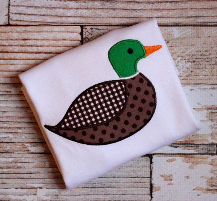 Mallard Duck Applique Shirt or Onesie Short Sleeve or Long Sleeve - Boy Duck Applique Shirt - Duck Applique - Mallard Applique, Boy Applique by CottonandSunshine on Etsy
