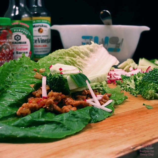 15 minute dinners: Spicy asian lettuce wrap