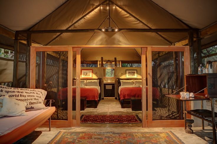 Newly refurbished twin tent