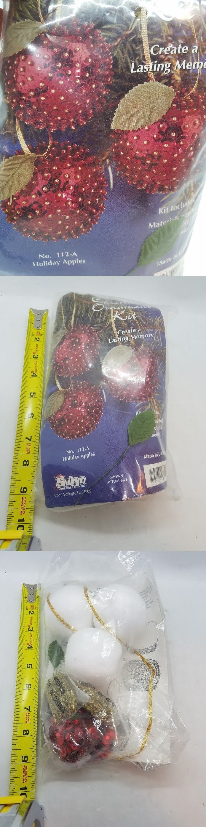 Other Beading Kits 162094 Vintage Sulyn Holiday Apples Sequin Christmas