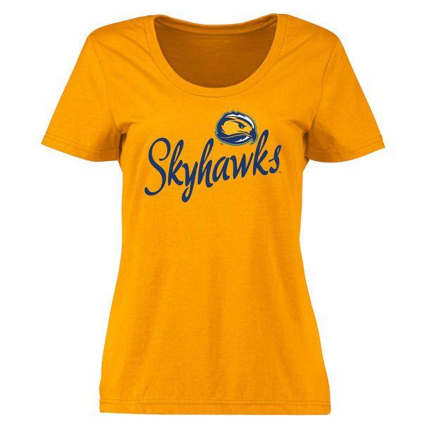 Fort Lewis College Skyhawks Women's Plus Sizes Dora T-Shirt - Gold - $24.99