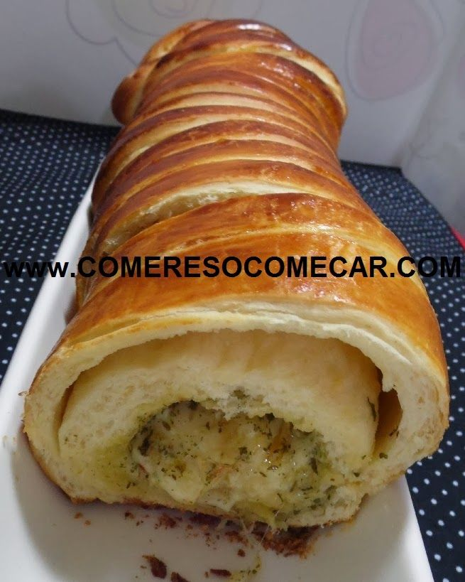 PÃO DE ALHO COM MUSSARELA E ERVAS - Receitas Culinárias