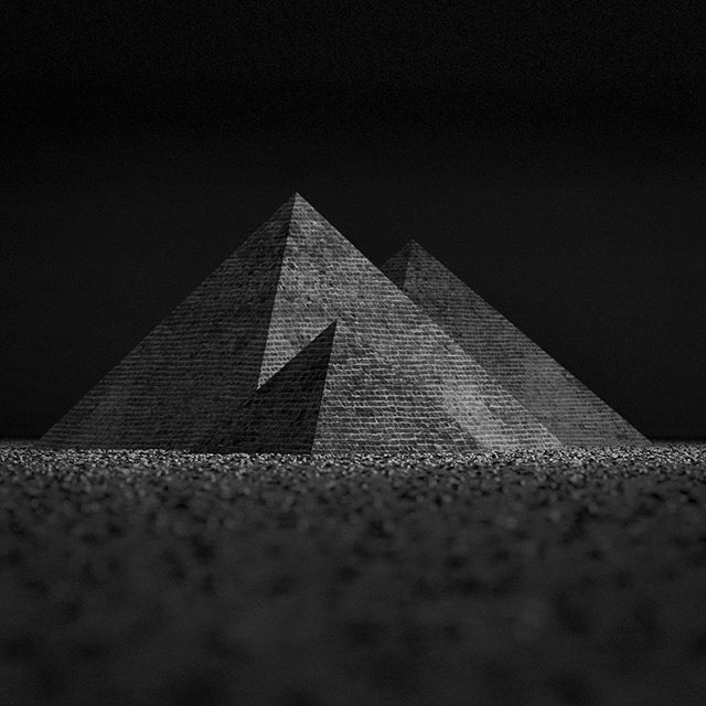 Giza pyramids #training #3d #pyramids #Giza #art #bw #Jason65kuutio #mv #pyramidit #taide