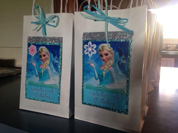 Frozen party favour bags