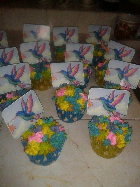 cupcakes colibrí